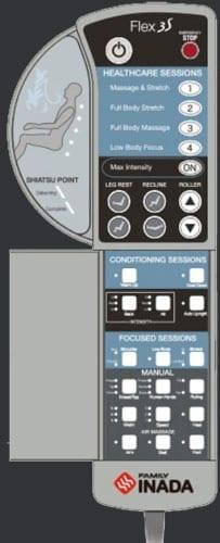 Inada Flex 3S Remote Control