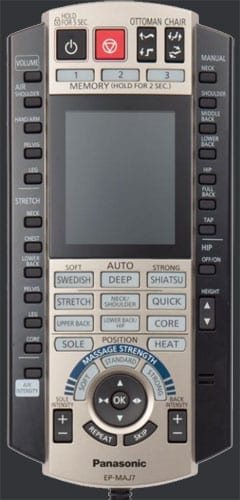 Panasonic maj7 remote control